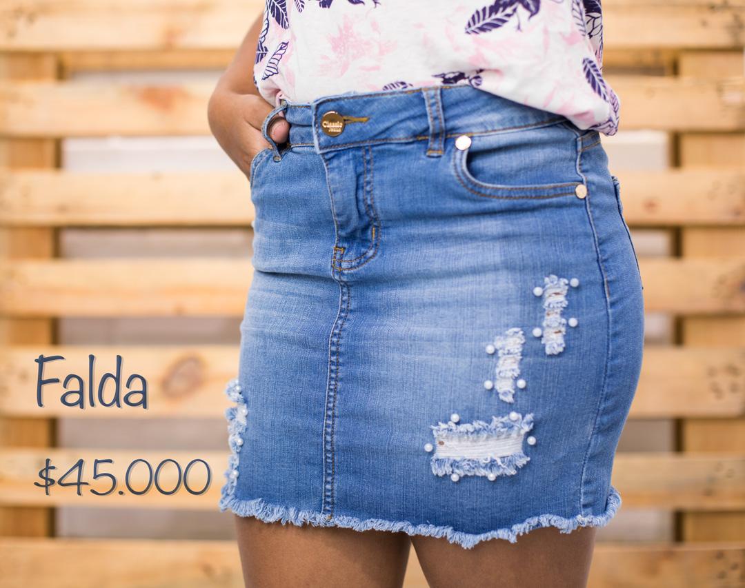 FALDA SLIM TIRO MEDIO CON PERLAS » Classic Jeans Ropa para Hombre y ... e2bc42436078