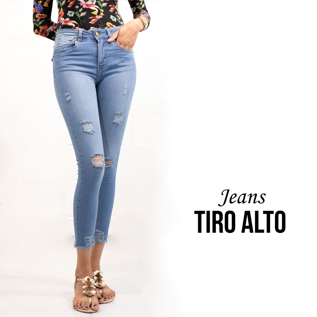 2543d6dfb8198 JEANS TIRO ALTO TOBILLERO » Classic Jeans Ropa para Hombre y Mujer