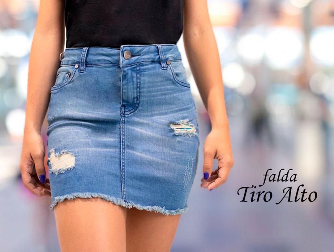 FALDA CORTA TIRO ALTO » Classic Jeans Ropa para Hombre y Mujer ddb7540ed358