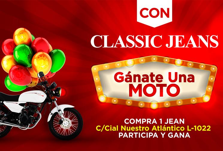 Gana una moto con Classic Jeans en Nuestro Atlántico