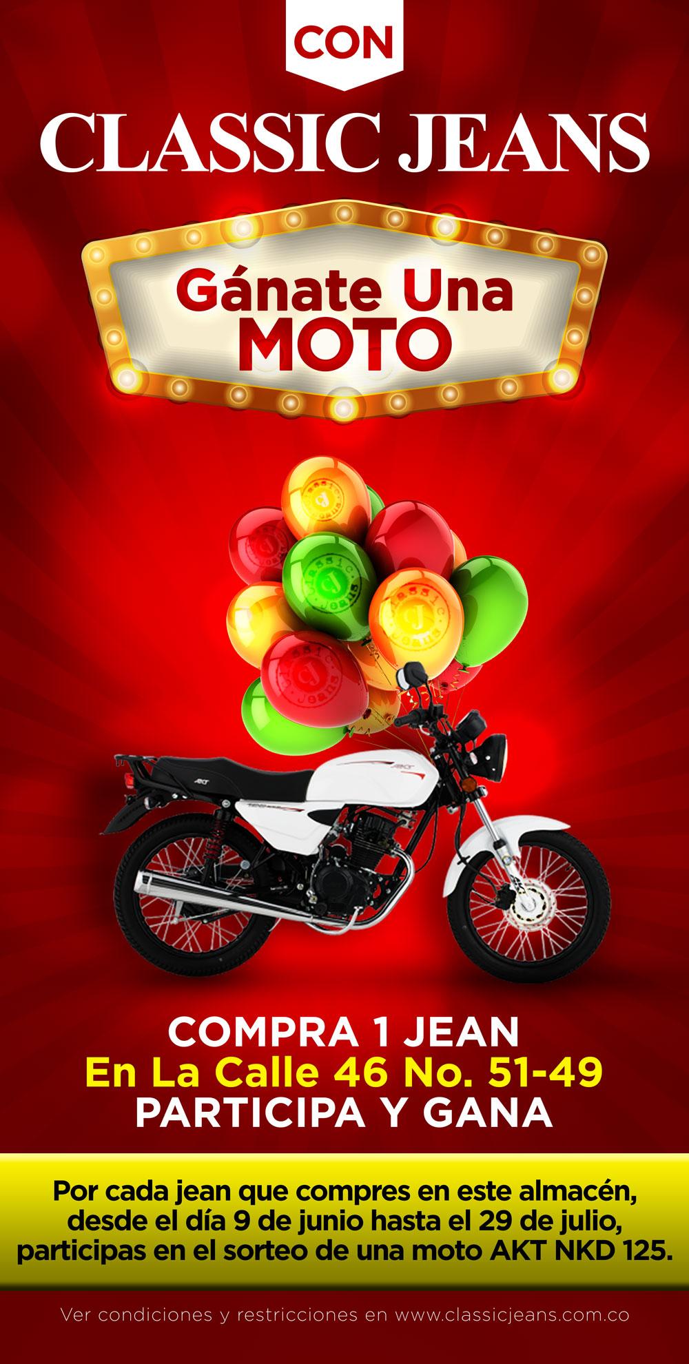 Gana una moto con Classic Jeans Barranquilla Barrio Abajo